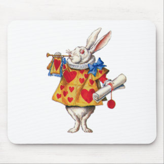 ALICE'S WHITE RABBIT IN WONDERLAND MOUSE MAT