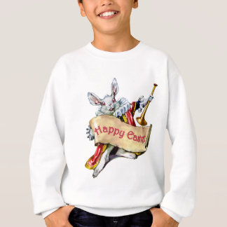 Alice's White Rabbit wishes you a Happy Easter Sweatshirt