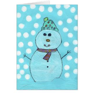 Alicia s Snowman Chrismas Card