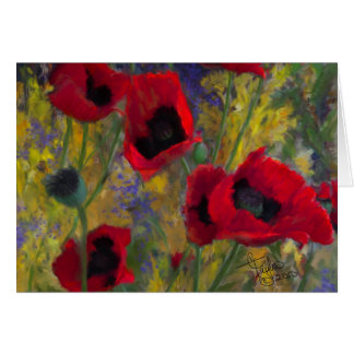 Alicia's Poppies Card