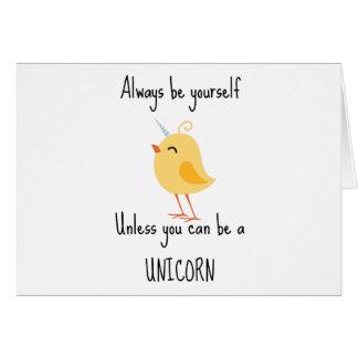Alida the Unicorn Greeting Card