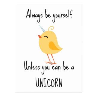 Alida the Unicorn Postcard