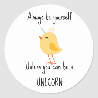 Alida the Unicorn Round Sticker