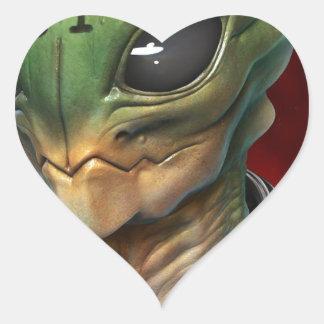 Alien 51 heart sticker