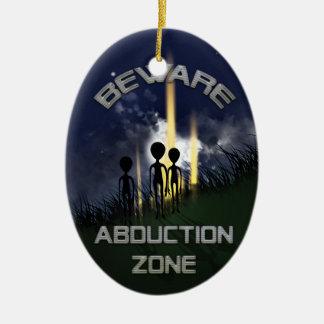 Alien Abduction Door Hanger Ceramic Oval Decoration