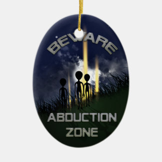 Alien Abduction Door Hanger Christmas Ornament