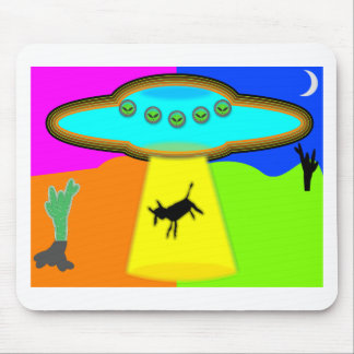 Alien Abduction Mouse Pads