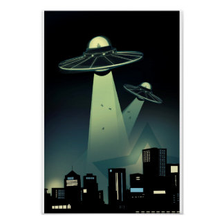 Alien Abduction Poster Larger