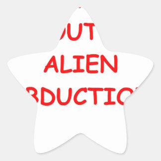 alien abduction star sticker