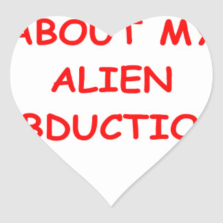 alien abduction heart sticker