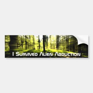 Alien Abduction Survivor Bumper Sticker
