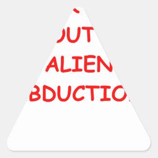 alien abduction triangle sticker