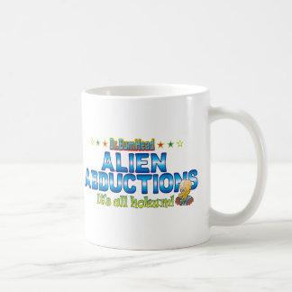 Alien Abductions Dr. B Head Basic White Mug