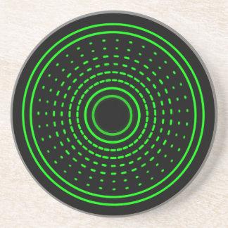 Alien Alarm Green Abstract Gamma Led Light Coaster