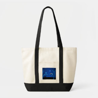 Alien and Chameleon Impulse Tote Bag