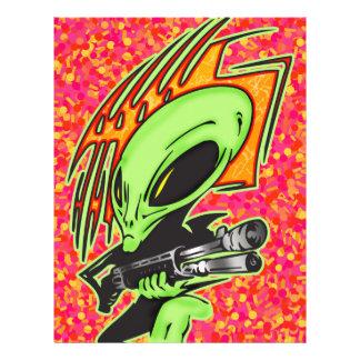 Alien And Laser Gun 21.5 Cm X 28 Cm Flyer