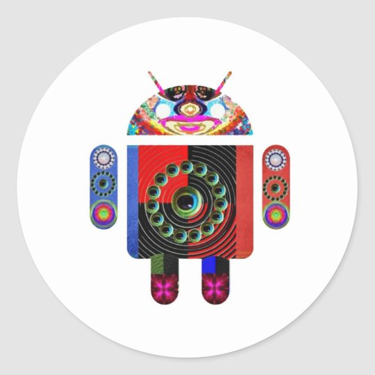 aLIEN Android  -  Art101 by Navin Classic Round Sticker