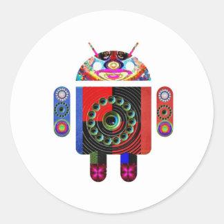 aLIEN Android  -  Art101 by Navin Round Sticker