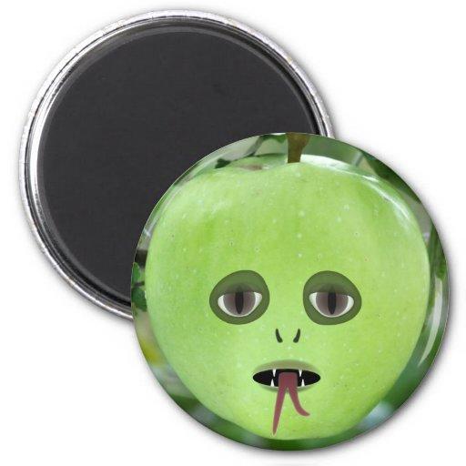 Alien Apple Magnet