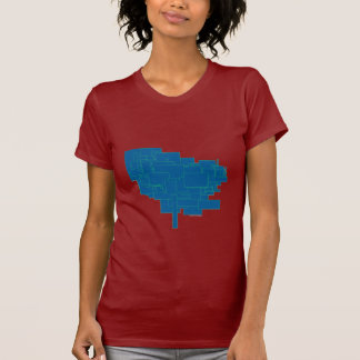 Alien art architecture squares abstract blue am1 shirts