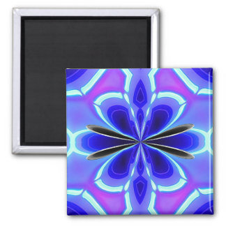 Alien Art - Glowing Neon - Square Magnet