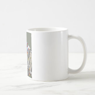 Alien Attacks in UFO by Sam Backhouse Coffee Mug