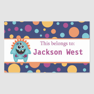Alien back to school personalized stickers