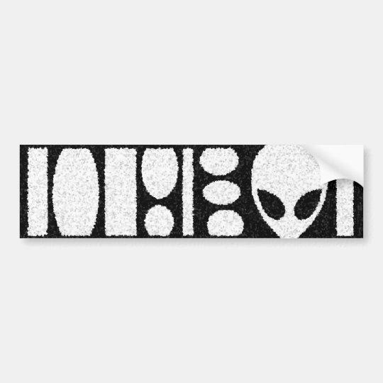 aLiEn BARCODE! Bumper Sticker