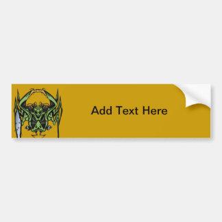 Alien Battle Bumper Sticker