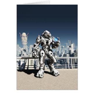 Alien Battle Droid - City Watch Greeting Card