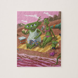 alien beach vacation jigsaw puzzle