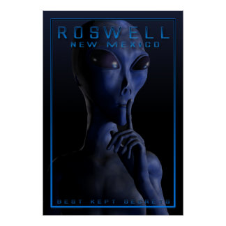 Alien, being, UFO, Roswell, mystery, encounter, ab Poster