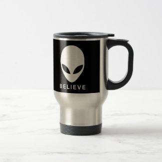 Alien Believe Stainless Steel Travel Mug