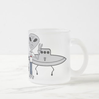 Alien Believer Frosted Glass Mug