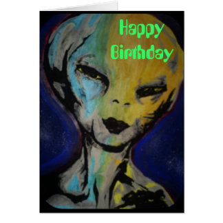 'Alien' Birthday Card