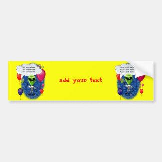 Alien Birthday Party Theme Bumper Sticker