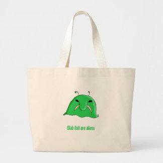 Alien blob canvas bags