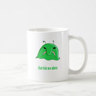 Alien blob basic white mug