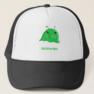 Alien blob trucker hat