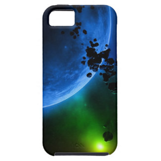 Alien Blue Planets & Asteroids Case For The iPhone 5
