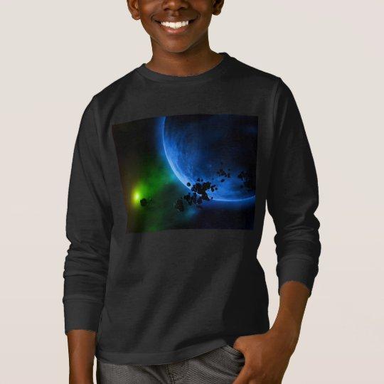 Alien Blue Planets T-Shirt