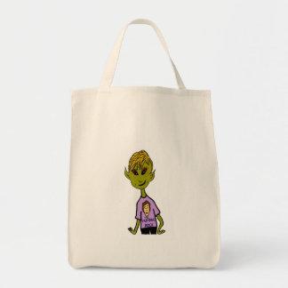 Alien Boy - Humans Rock Grocery Tote Bag