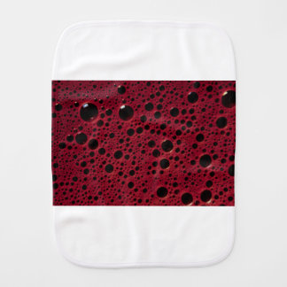Alien bubbles bordeaux texture burp cloths