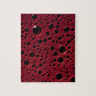 Alien bubbles bordeaux texture jigsaw puzzle