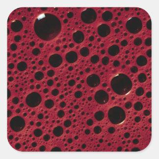 Alien bubbles bordeaux texture square sticker