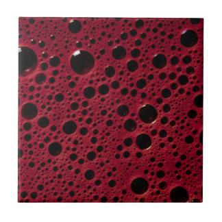Alien bubbles bordeaux texture tile