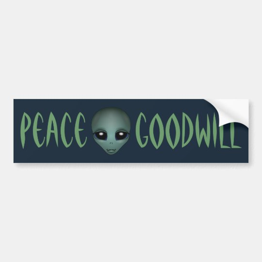 Alien Bumper Sticker Friendly Alien Bumper Sticker