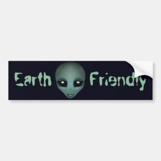 Alien Bumper Sticker Friendly Alien Bumper Sticker