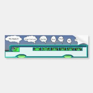 Alien Bus Bumper Sticker