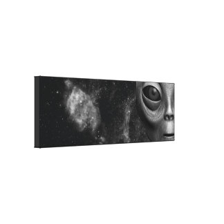 Alien Stretched Canvas Print